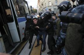 مظاهرات في روسيا تزامنا مع الانتخابات المحلية