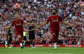 محمد صلاح يفوز بجائزة أجمل أهداف ليفربول خلال أغسطس الماضي