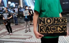 مسيرات في طوكيو ضد العنصرية تأييدا لاحتجاجات الولايات المتحدة بعد مقتل جورج فلويد
