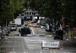 الشرطة الأمريكية تفض مظاهرات في واشنطن