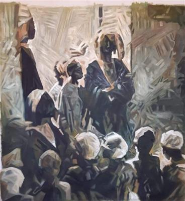 حكايات-فنية-فى-المعرض-العام--أحمد-عبد-الجواد-يستعيد-أيام-الكتاتيب-