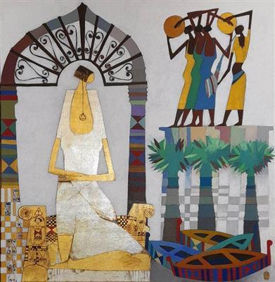 في-معرض-جماعي-بجاليري-سماح-أرت-إحياء-الذاكرة-الشعبية-المصرية-بلغة-بصرية