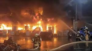 مصرع-وإصابة-العشرات-فى-حريق-تايوان