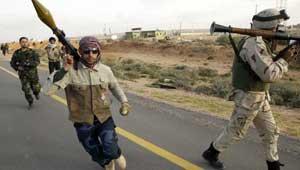 القوات الليبية تتراجع والمعارضة انتصرت مصراتة