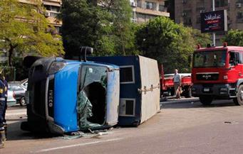 الداخلية: انقلاب سيارة ترحيلات بالغربية بدون سجناء وإصابة 4 شرطيين