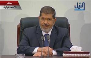 مرسي: القوات المسلحة كانت ومازالت