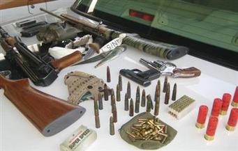 ضبط 63 طبنجة و1536 طلقة مختلفة الأعيرة النارية