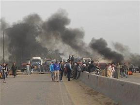 صيادو برج البرلس يقطعون الطريق الدولى الساحلى احتجاجًا على إزالة تعديات من البحيرة وترك البعض