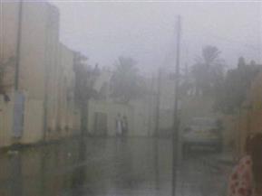طقس سيئ وأمطار غزيرة ومحال تجارية تغلق مبكرا في الفيوم