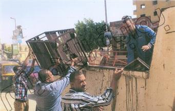 حي الموسكي يُزيل إشغالات الباعة الجائلين من ميدان العتبة وشارعي الجيش والبوستة
