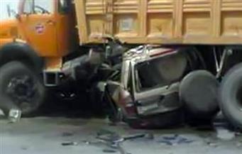 مصرع وإصابة 4 أشخاص في حادث تصادم بالطريق الصحراوي الغربي في سوهاج