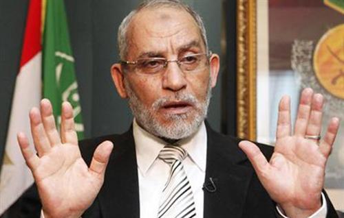 محمد بديع: أهيب بالإعلام أن يتقى الله.. وبالمعارضة أن تعبر عن رأيها بالكلمة الطيبة