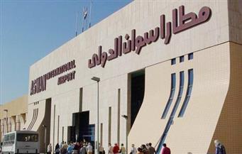 انتظام رحلات الطيران بمطار أسوان رغم العاصفة الترابية.. ومنع الرحلات النيلية