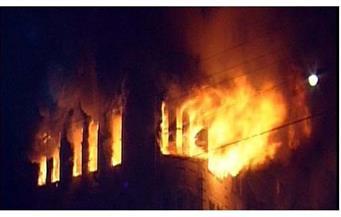 إخماد حريق بشقة في الفيوم