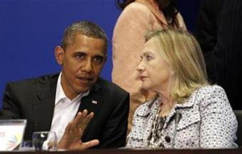 الزوجان أوباما يشاركان كلينتون وزوجها آخر حملة عشية الانتخابات