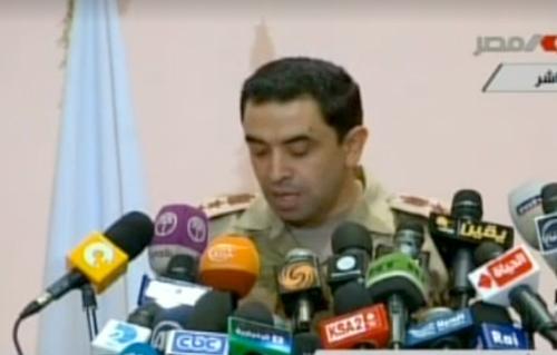 المتحدث العسكرى  جيشنا لايعرف الانقلابات أو الانشقاقات ولن نسمح بالمساس بالأمن العام المصرى