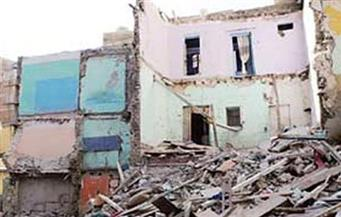 انهيار منزل من طابقين بدون خسائر فى أخميم بسوهاج