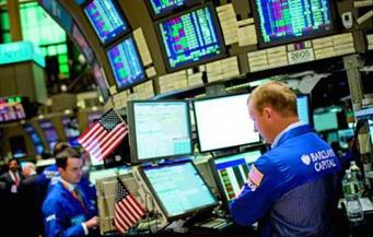 """""""وول ستريت"""" تفتح مرتفعة بدعم مكاسب القطاع المالي"""