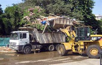 رفع 45 طنًا من الأتربة والمخلفات بالخصوص والقناطر الخيرية