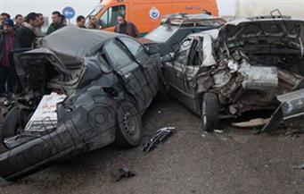 إصابة شخصين في تصادم 3 سيارات بالطريق الدائري
