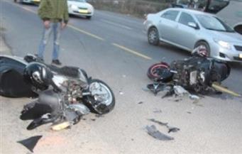 مصرع 3 شباب وإصابة رابع في حادث تصادم بقرية أولاد نجم