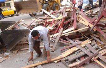 إزالة 140 حالة إشغال و30 عائقا خرسانيا في حملة بالفيوم   صور
