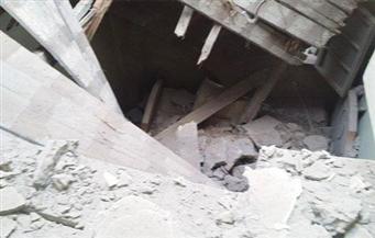 انهيار جزئي بمنزل مهجور بمدينة كفر الشيخ دون وقوع إصابات