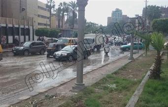 سقوط أمطار غزيرة على مراكز ومدن محافظة الغربية