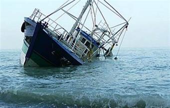 إنقاذ صيادين من عزبة البرج تحطمت مركبهم على سواحل غزة