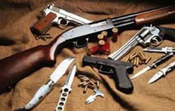 ضبط 605 قطعة سلاح نارى من بينها رشاش و57 بندقية آلية