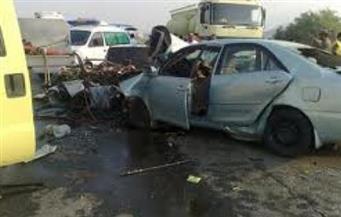 ننشر أسماء المصابين في حادث تصادم عيون موسى بجنوب سيناء