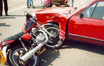 إصابة شخصين في حادث تصادم بسوهاج