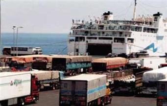 موانئ البحر الأحمر: تداول 7 آلاف طن حجر جيري و341 شاحنة بضائع