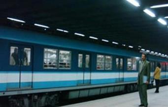 انتظام حركة قطارات مترو الخط الأول بعد سحب القطار المعطل بمحطة جمال عبد الناصر