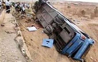 إصابة سائق في انقلاب أتوبيس مدرسة وسيارة نصف نقل بمدينة نصر