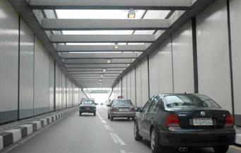 كثافات مرورية عالية بنفق الأزهر بسبب تعطل سيارتين