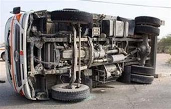 إصابة 3 أشخاص في حادث انقلاب سيارة على طريق بلطيم - برج البرلس