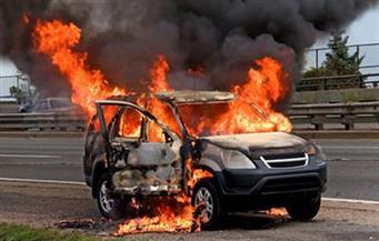 كثافات مرورية بمدينة نصر نتيجة اشتعال النيران في سيارة ملاكي