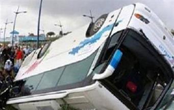 مصرع سائح وإصابة 27 آخرين إثر حادث انقلاب أتوبيس سياحي بالقرب من سانت كاترين