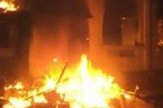 مزارع يتهم جيرانه بإشعال النار بمنزله وماشيته بالقليوبية
