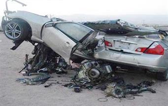 تصادم سيارتين يتسبب في توقف حركة المرور أعلى الطريق الدائرى