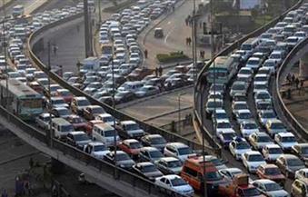 كثافات مرورية عالية بميادين ومحاور القاهرة
