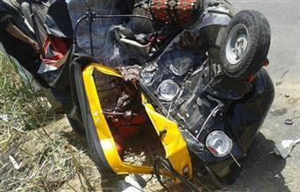 مصرع مواطن وإصابة 6 آخرين فى تصادم سيارة ملاكي وتوكتوك بسوهاج