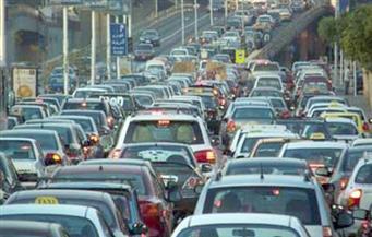 هبوط أرضي بطريق مصر الإسكندرية الصحراوي وتكدس في حركة المرور