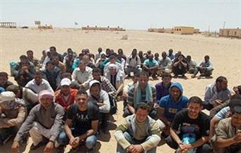 حرس الحدود تحبط محاولة هجرة غير شرعية لإيطاليا لـ89 شابًا من جنسيات مختلفة في كفر الشيخ