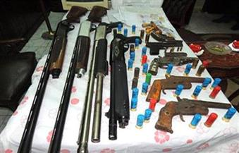 ضبط 11 قطعة سلاح ناري في حملة أمنية بالمنيا