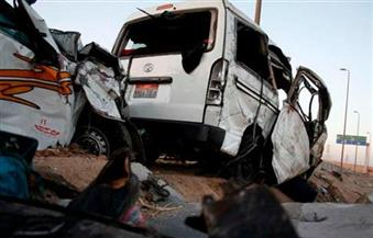 مصرع ٧ وإصابة ١٥ في حادث تصادم بأسوان