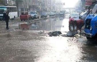 """""""طرق القاهرة"""" تنفي وجود هبوط أرضي بمصر الجديدة.. و""""انفجار"""" ماسورة مياه يتسبب فى زحام مروري"""