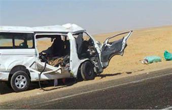 انقلاب سيارة أجرة وإصابة 5 مواطنين بطريق أسيوط الغربي في الفيوم
