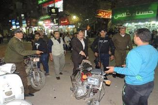 ضبط 4 آلاف مخالفة و إزالة 12 موقفًا عشوائيًا وحجز 55 توك توك ودراجة بخارية فى حملات مرورية بالجيزة
